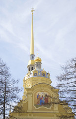 Фрагмент Петропавловского собора в Санкт-Петербурге