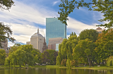 Boston City. Public Garden