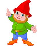 Fototapety Cute Gnome presenting