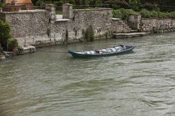 boat on the river