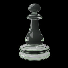 3d rendering Chess  isolated on dark background