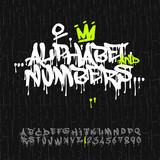 Fototapety Graffiti alphabet and numbers