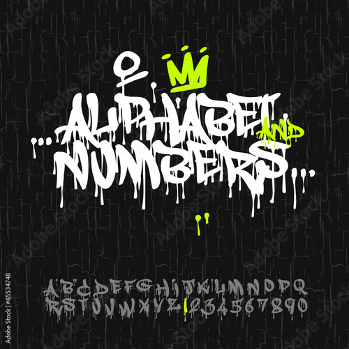 Graffiti alphabet and numbers