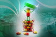Pills and bottle,3d rendered illustration
