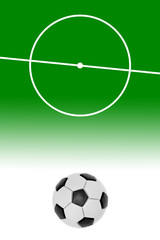 Layout of a football field and ball