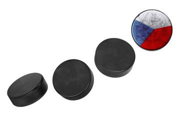 Czech hockey pucks