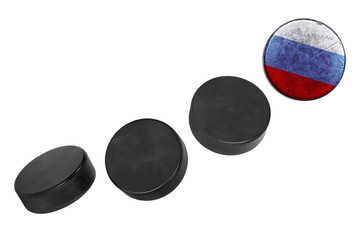 Russian hockey pucks