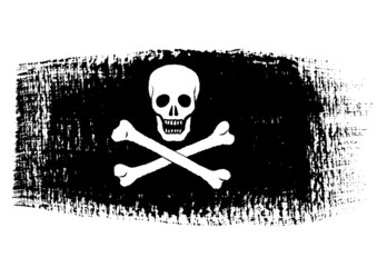 brushstroke flag Pirate