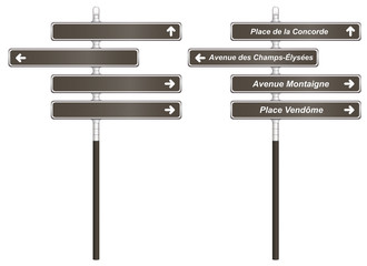 Paris City Signboards Template