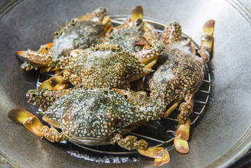 Prepare blue crab for steaming2