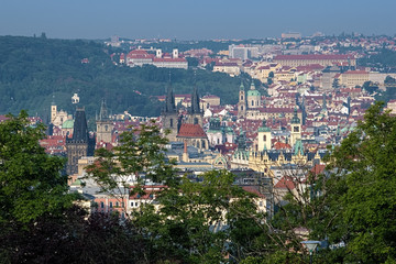 View on Prague from Vitkov Hill, Czech Republic