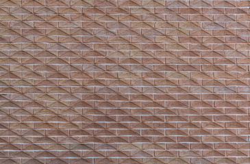 Wall from a modern brick with a pattern as background