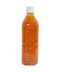 bottle of ice tea on white