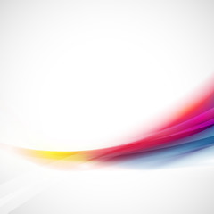 Abstract smooth colorful flow element on white background