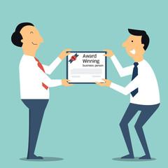 Receive award certification
