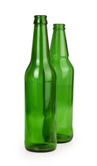 two empty glass bottles