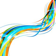 Color of curve abstract design