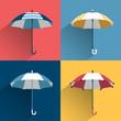 Umbrella sign. Flat vector sign.