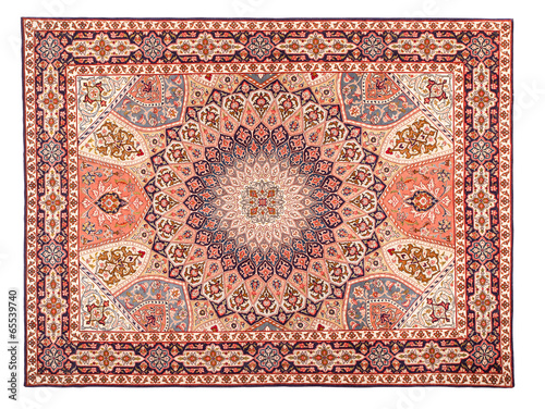 Fotobehang Stof Rug. Classic Arabic Pattern. Asian Carpet Texture