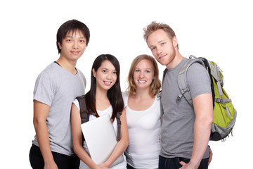 Happy Group of student