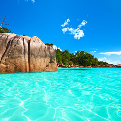 Beautiful beach at Seychelles