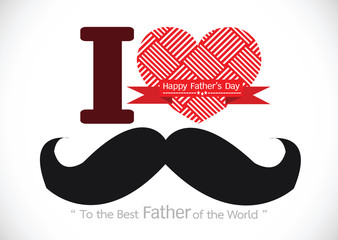 Father's Day card with mustache