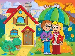 Rainy weather theme image 3