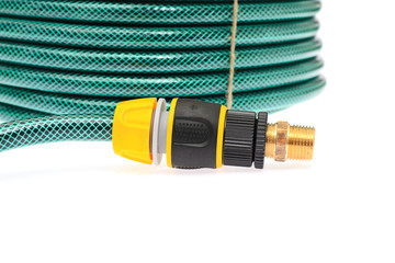 Garden Hose Isolated on White Background