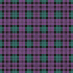 Seamless checkered texture purple and green