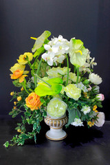 Vase Artificial Flower Arrangement