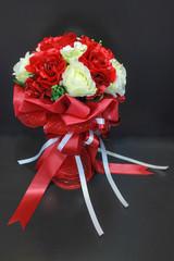 Vase Artificial Flower Arrangement