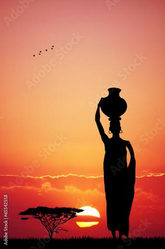 Zdjęcia na płótnie, fototapety, obrazy : African woman