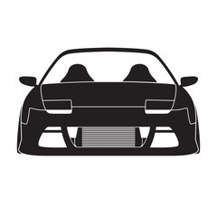 Sportcar siluet