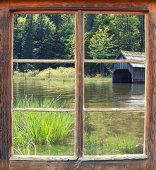 Fensterblick Toplitzsee