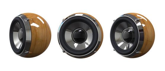 wooden music speaker
