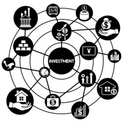 investment, connecting network diagram