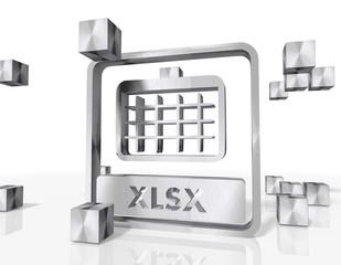 construction of a xlsx icon