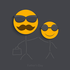 Vector fathers day background.