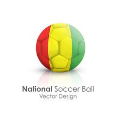 Soccer ball of Mali over white background