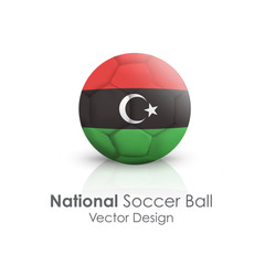 Soccer ball of Libya over white background