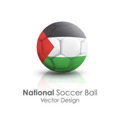 Soccer ball of Gaza Strip over white background