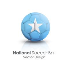 Soccer ball of Somalia over white background