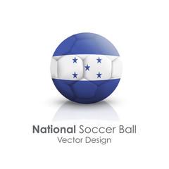 Soccer ball of Honduras over white background