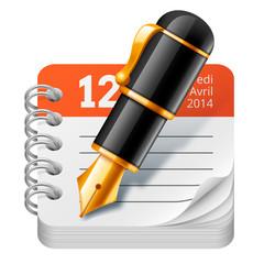 Stylo à plume et agenda vectoriels 1