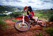Leinwandbild Motiv Motocross rider