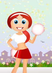 Cheerleader cartoon