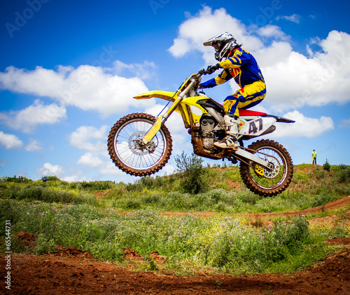 fototapeta na ścianę Motocross rider