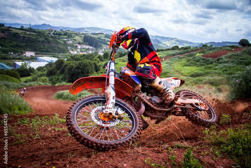 Zdjęcia na płótnie, fototapety, obrazy : Motocross rider