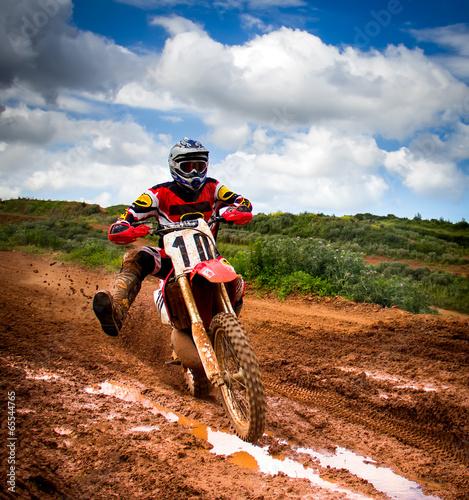 fototapeta na ścianę Motocross jeździec