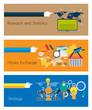 Flat UI design concepts for unique infographics